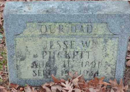 PUCKETT, JESSE W. - Pulaski County, Arkansas   JESSE W. PUCKETT - Arkansas Gravestone Photos