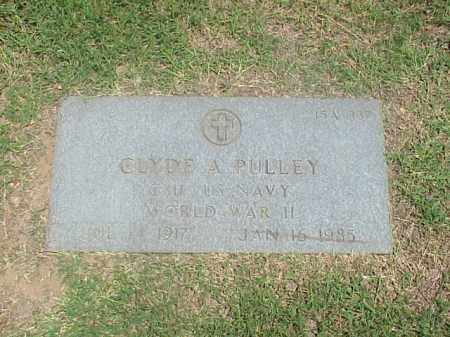 PULLEY (VETERAN WWII), CLYDE A - Pulaski County, Arkansas | CLYDE A PULLEY (VETERAN WWII) - Arkansas Gravestone Photos