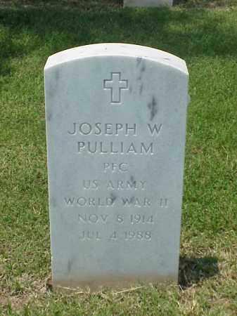 PULLIAM (VETERAN WWII), JOSEPH W - Pulaski County, Arkansas | JOSEPH W PULLIAM (VETERAN WWII) - Arkansas Gravestone Photos