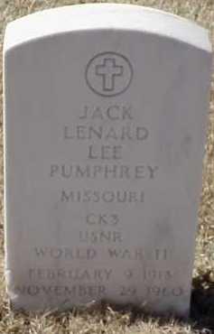 PUMPHREY  (VETERAN WWII), JACK LENARD LEE - Pulaski County, Arkansas | JACK LENARD LEE PUMPHREY  (VETERAN WWII) - Arkansas Gravestone Photos