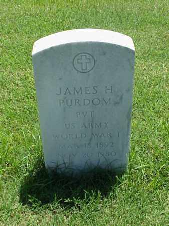 PURDOM (VETERAN WWI), JAMES H - Pulaski County, Arkansas | JAMES H PURDOM (VETERAN WWI) - Arkansas Gravestone Photos