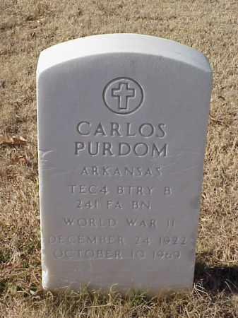 PURDOM (VETERAN WWII), CARLOS - Pulaski County, Arkansas | CARLOS PURDOM (VETERAN WWII) - Arkansas Gravestone Photos