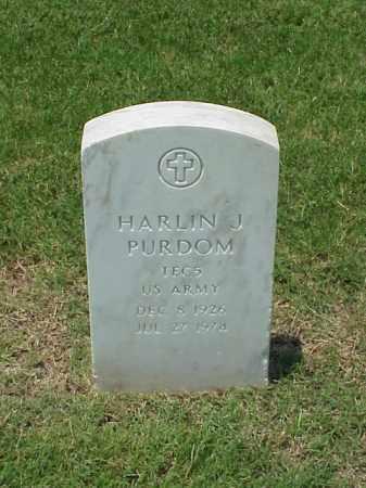 PURDOM (VETERAN WWII), HARLIN J - Pulaski County, Arkansas   HARLIN J PURDOM (VETERAN WWII) - Arkansas Gravestone Photos