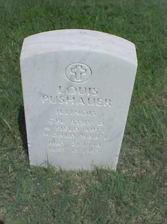 PUSHAUER (VETERAN WWI), LOUIS - Pulaski County, Arkansas   LOUIS PUSHAUER (VETERAN WWI) - Arkansas Gravestone Photos