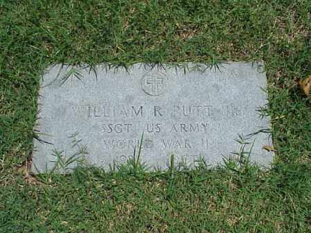 PUTT, JR (VETERAN WWII), WILLIAM R - Pulaski County, Arkansas   WILLIAM R PUTT, JR (VETERAN WWII) - Arkansas Gravestone Photos