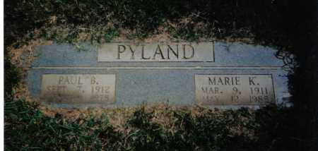 PYLAND, MARIE  KATHERINE - Pulaski County, Arkansas | MARIE  KATHERINE PYLAND - Arkansas Gravestone Photos