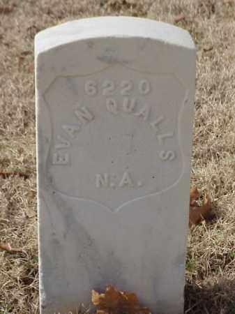QUALLS (VETERAN UNION), EVAN - Pulaski County, Arkansas | EVAN QUALLS (VETERAN UNION) - Arkansas Gravestone Photos