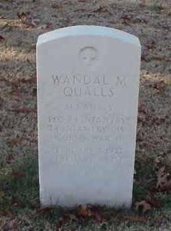 QUALLS (VETERAN WWII), WANDAL M - Pulaski County, Arkansas   WANDAL M QUALLS (VETERAN WWII) - Arkansas Gravestone Photos