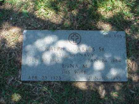 QUARLES, SR (VETERAN WWII), RALPH - Pulaski County, Arkansas | RALPH QUARLES, SR (VETERAN WWII) - Arkansas Gravestone Photos