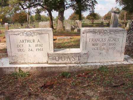 QUAST, FRANCES AGNES - Pulaski County, Arkansas   FRANCES AGNES QUAST - Arkansas Gravestone Photos