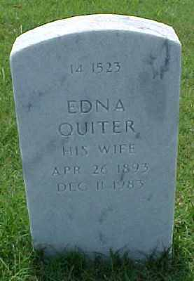 QUITER, EDNA - Pulaski County, Arkansas | EDNA QUITER - Arkansas Gravestone Photos