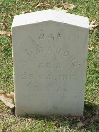 RABORN (VETERAN CSA), S M - Pulaski County, Arkansas   S M RABORN (VETERAN CSA) - Arkansas Gravestone Photos