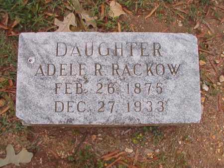RACKOW, ADELE R - Pulaski County, Arkansas | ADELE R RACKOW - Arkansas Gravestone Photos