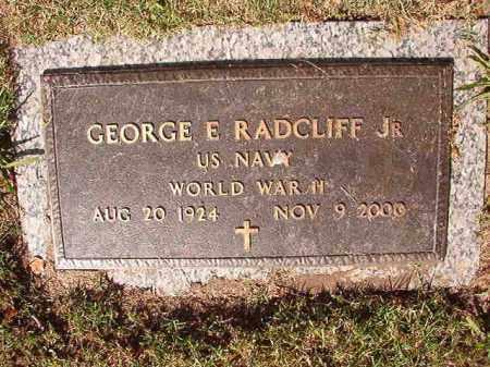 RADCLIFF, JR (VETERAN WWII), GEORGE E - Pulaski County, Arkansas | GEORGE E RADCLIFF, JR (VETERAN WWII) - Arkansas Gravestone Photos