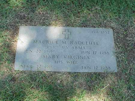 RADCLIFFE (VETERAN 2 WARS), MAURICE M - Pulaski County, Arkansas   MAURICE M RADCLIFFE (VETERAN 2 WARS) - Arkansas Gravestone Photos
