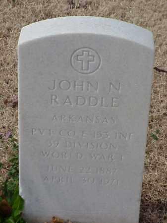 RADDLE (VETERAN WWI), JOHN N - Pulaski County, Arkansas   JOHN N RADDLE (VETERAN WWI) - Arkansas Gravestone Photos