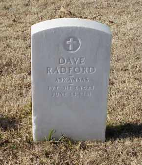 RADFORD (VETERAN WWI), DAVE - Pulaski County, Arkansas | DAVE RADFORD (VETERAN WWI) - Arkansas Gravestone Photos