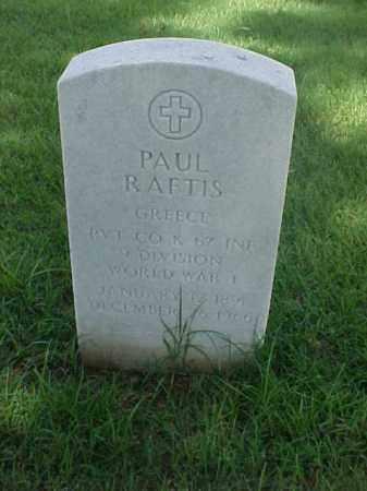 RAFTIS (VETERAN WWI), PAUL - Pulaski County, Arkansas | PAUL RAFTIS (VETERAN WWI) - Arkansas Gravestone Photos