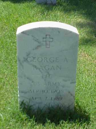 RAGAN (VETERAN), GEORGE A - Pulaski County, Arkansas | GEORGE A RAGAN (VETERAN) - Arkansas Gravestone Photos