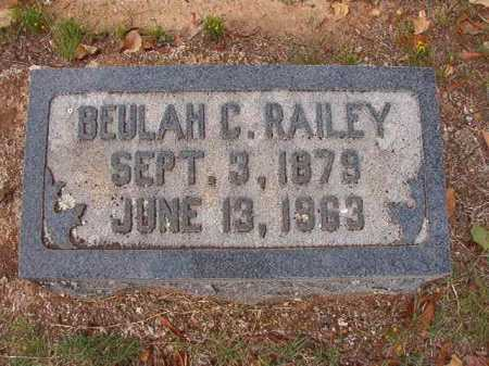 RAILEY, BEULAH C - Pulaski County, Arkansas | BEULAH C RAILEY - Arkansas Gravestone Photos