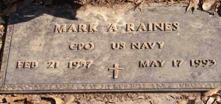 RAINES (VETERAN), MARK A - Pulaski County, Arkansas | MARK A RAINES (VETERAN) - Arkansas Gravestone Photos