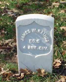 RAINES (VETERAN UNION), JAMES W - Pulaski County, Arkansas   JAMES W RAINES (VETERAN UNION) - Arkansas Gravestone Photos
