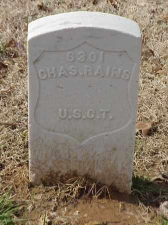 RAINS (VETERAN UNION), CHARLES - Pulaski County, Arkansas | CHARLES RAINS (VETERAN UNION) - Arkansas Gravestone Photos