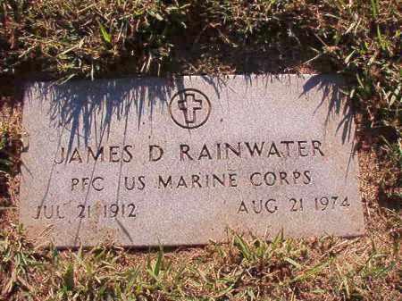 RAINWATER (VETERAN), JAMES D - Pulaski County, Arkansas | JAMES D RAINWATER (VETERAN) - Arkansas Gravestone Photos