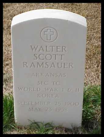 RAMSAUER (VETERAN 3 WARS), WALTER SCOTT - Pulaski County, Arkansas | WALTER SCOTT RAMSAUER (VETERAN 3 WARS) - Arkansas Gravestone Photos