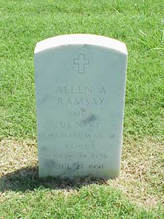 RAMSAY (VETERAN 2 WARS), ALLEN A - Pulaski County, Arkansas | ALLEN A RAMSAY (VETERAN 2 WARS) - Arkansas Gravestone Photos