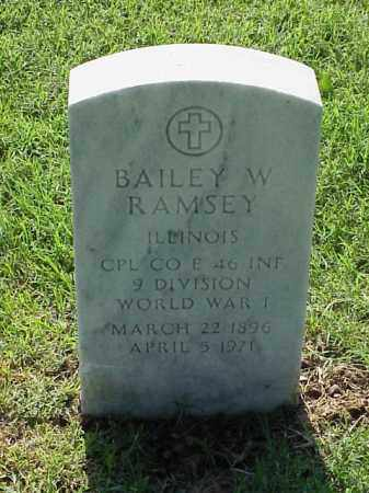 RAMSEY (VETERAN WWI), BAILEY W - Pulaski County, Arkansas   BAILEY W RAMSEY (VETERAN WWI) - Arkansas Gravestone Photos