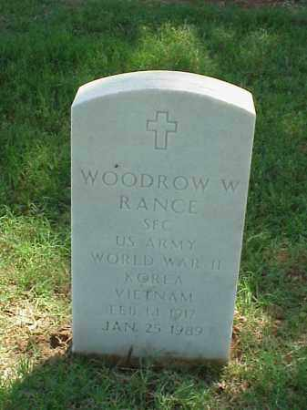 RANCE (VETERAN 3 WARS), WOODROW W - Pulaski County, Arkansas | WOODROW W RANCE (VETERAN 3 WARS) - Arkansas Gravestone Photos