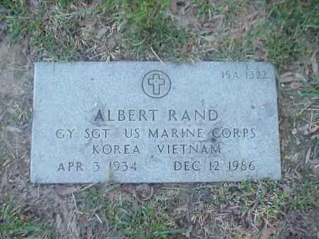 RAND (VETERAN 2 WARS), ALBERT - Pulaski County, Arkansas | ALBERT RAND (VETERAN 2 WARS) - Arkansas Gravestone Photos