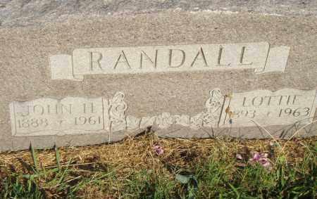 RANDALL, LOTTIE - Pulaski County, Arkansas | LOTTIE RANDALL - Arkansas Gravestone Photos