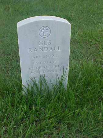 RANDALL (VETERAN WWI), GUS - Pulaski County, Arkansas | GUS RANDALL (VETERAN WWI) - Arkansas Gravestone Photos