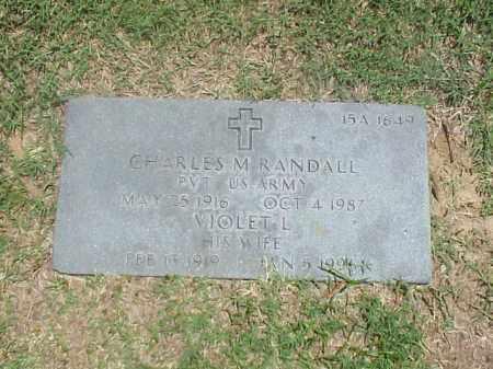 RANDALL, VIOLET L - Pulaski County, Arkansas | VIOLET L RANDALL - Arkansas Gravestone Photos