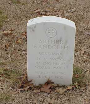 RANDOLPH  (VETERAN WWI), ARTHUR - Pulaski County, Arkansas   ARTHUR RANDOLPH  (VETERAN WWI) - Arkansas Gravestone Photos