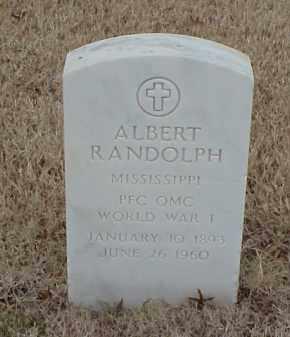 RANDOLPH  (VETERAN WWI), ALBERT - Pulaski County, Arkansas   ALBERT RANDOLPH  (VETERAN WWI) - Arkansas Gravestone Photos
