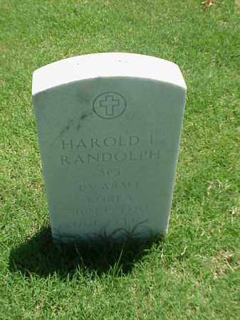 RANDOLPH (VETERAN KOR), HAROLD L - Pulaski County, Arkansas | HAROLD L RANDOLPH (VETERAN KOR) - Arkansas Gravestone Photos