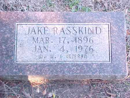 RASSKIND (VETERAN WWI), JAKE - Pulaski County, Arkansas | JAKE RASSKIND (VETERAN WWI) - Arkansas Gravestone Photos