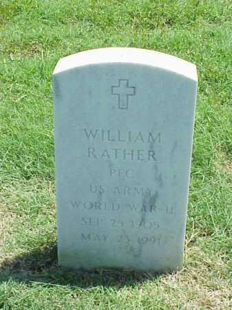 RATHER (VETERAN WWII), WILLIAM - Pulaski County, Arkansas   WILLIAM RATHER (VETERAN WWII) - Arkansas Gravestone Photos