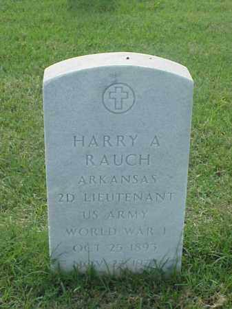 RAUCH (VETERAN WWI), HARRY A - Pulaski County, Arkansas | HARRY A RAUCH (VETERAN WWI) - Arkansas Gravestone Photos