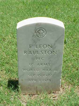 RAULSTON (VETERAN WWII), E LEON - Pulaski County, Arkansas | E LEON RAULSTON (VETERAN WWII) - Arkansas Gravestone Photos