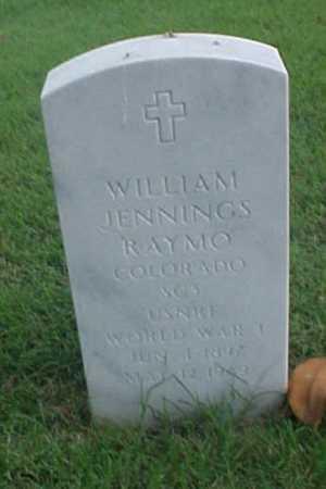 RAYMO (VETERAN WWI), WILLIAM JENNINGS - Pulaski County, Arkansas   WILLIAM JENNINGS RAYMO (VETERAN WWI) - Arkansas Gravestone Photos