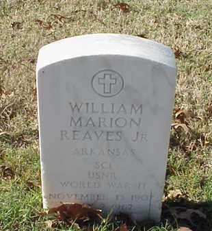 REAVES, JR (VETERAN WWII), WILLIAM MARION - Pulaski County, Arkansas | WILLIAM MARION REAVES, JR (VETERAN WWII) - Arkansas Gravestone Photos