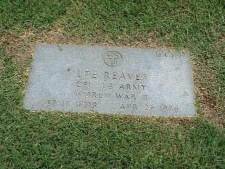 REAVES (VETERAN WWII), LEE - Pulaski County, Arkansas | LEE REAVES (VETERAN WWII) - Arkansas Gravestone Photos