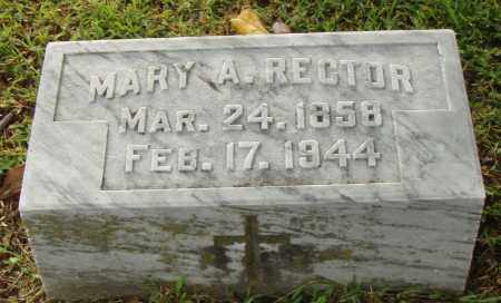 RECTOR, MARY A. - Pulaski County, Arkansas | MARY A. RECTOR - Arkansas Gravestone Photos