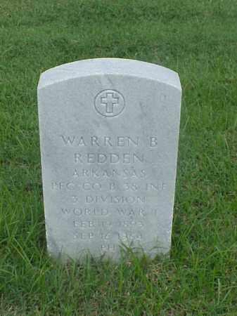 REDDEN (VETERAN WWI), WARREN B - Pulaski County, Arkansas | WARREN B REDDEN (VETERAN WWI) - Arkansas Gravestone Photos