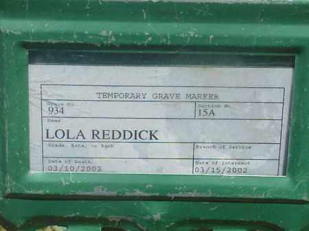 REDDICK, LOLA - Pulaski County, Arkansas | LOLA REDDICK - Arkansas Gravestone Photos