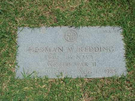 REDDING (VETERAN WWII), HERMAN W - Pulaski County, Arkansas | HERMAN W REDDING (VETERAN WWII) - Arkansas Gravestone Photos